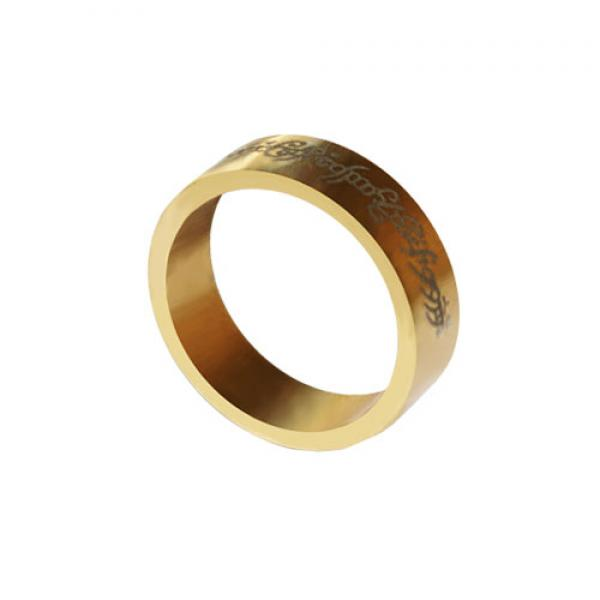 Magnetic Ring - Gold - Letters - 20 mm