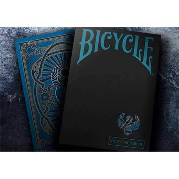 Bicycle Scarab (Blue) Playing Cards by Crooked Kin...