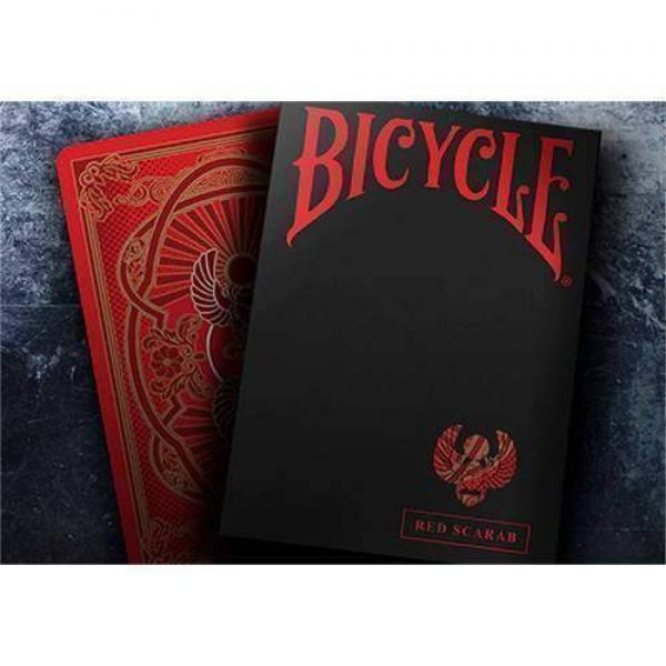 Bicycle Scarab (Red) Playing Cards by Crooked King...