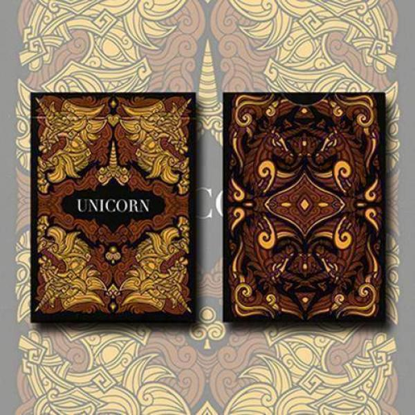 Unicorn Playing cards (Copper) by Aloy Design Stud...