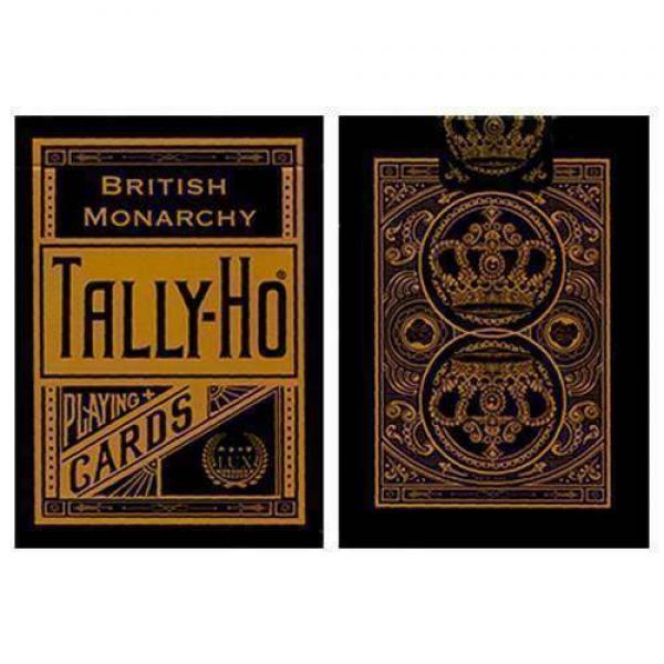 Tally Ho British Monarchy Playing Cards - Black - ...
