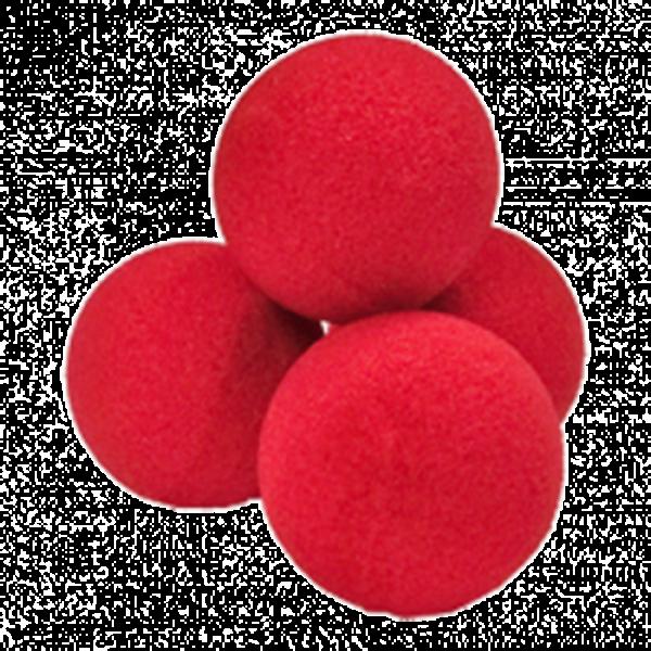 Soft sponge balls - Set of 4 balls 3.5 cm - Red