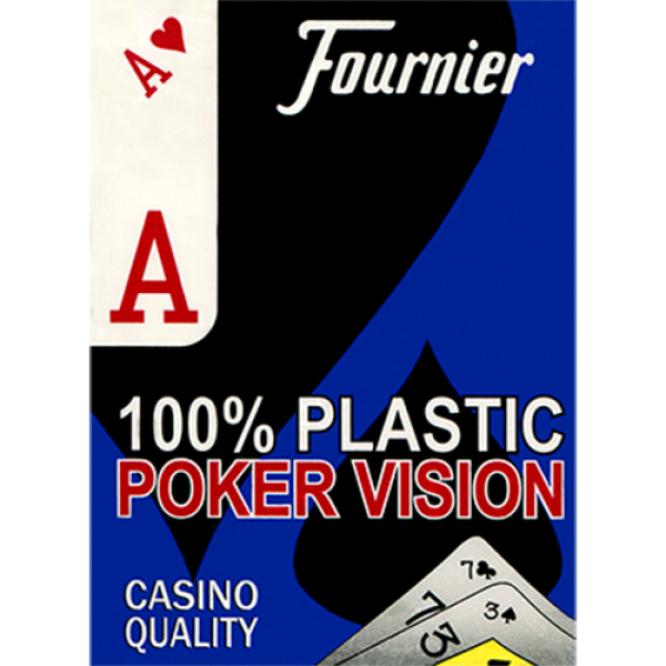 Fournier Plastic Playing Cards Large Pips (Blu)