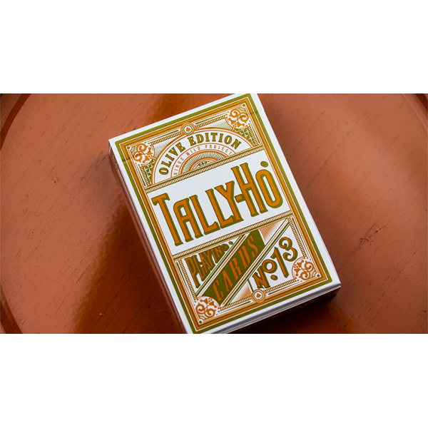 Olive Tally Ho Playing Cards by Jackson Robinson