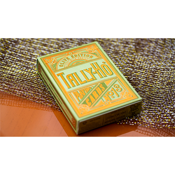 Limited Edition Olive Tally Ho Playing Cards by Ja...