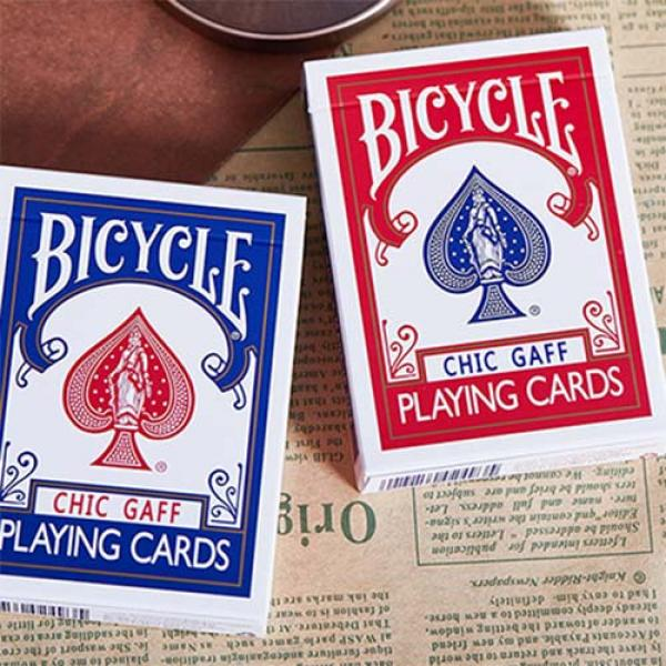 Bicycle Chic Gaff (Red) Playing Cards by Bocopo