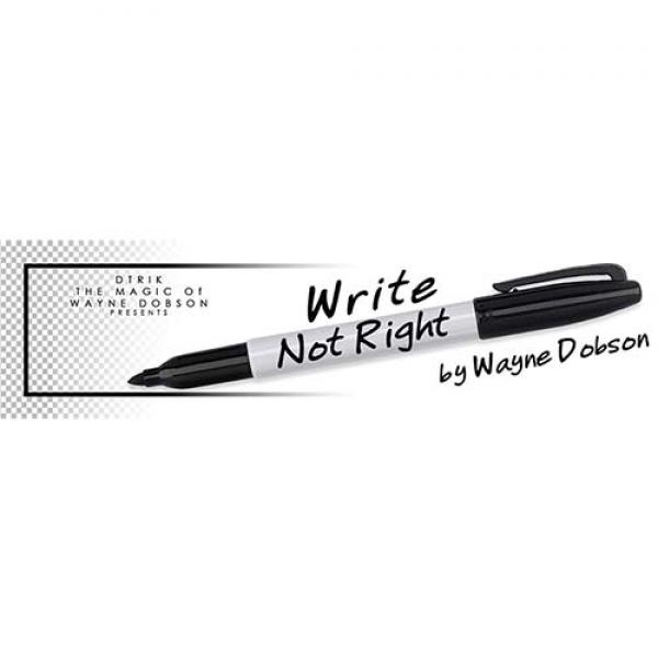 Write, Not Right Sharpie (Gimmicks and Online Inst...
