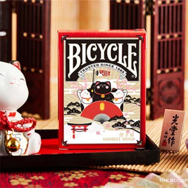 Bicycle Maneki Neko (RED) Playing Cards by Bocopo