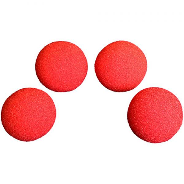 7.5 cm HD Ultra Soft Red Sponge Ball set of 4 from...