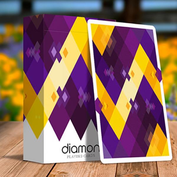 Diamon Playing Cards N° 14 Purple Star Playing Ca...