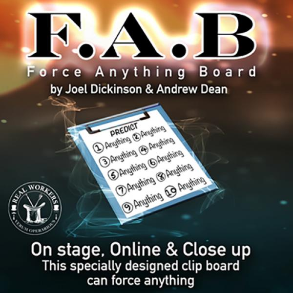 FAB BOARD A4/BLACK (Gimmicks and Online Instructio...