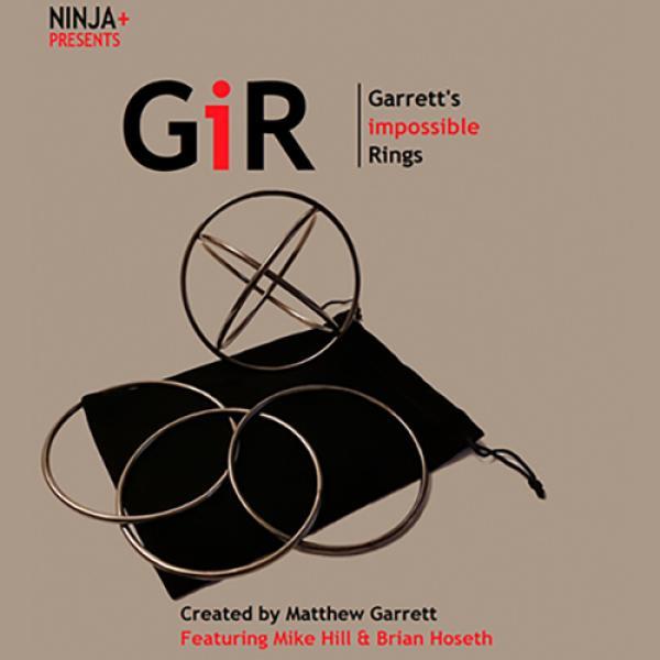 GIR Ring Set BLACK CHROME (Gimmick and Online Inst...