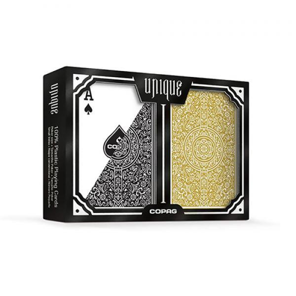Copag Unique Plastic Playing Cards Poker Size Regu...