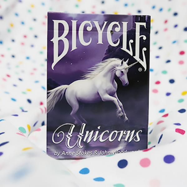 Bicycle Anne Stokes Unicorns (Purple) Cards by USP...