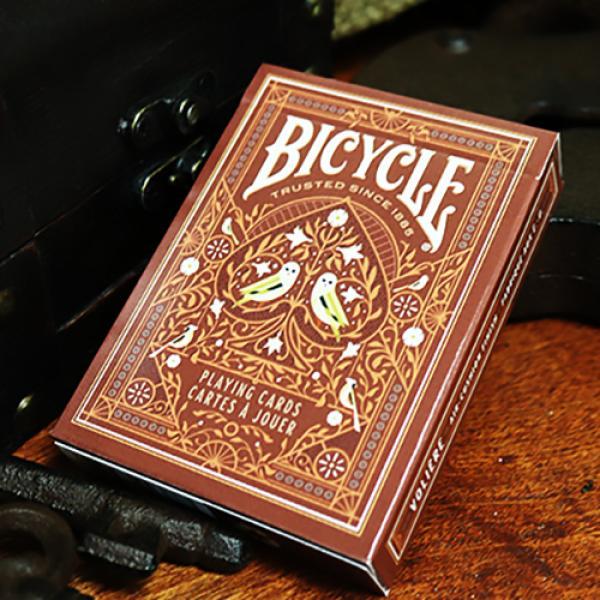 Bicycle Aviary (Orange) Playing Cards