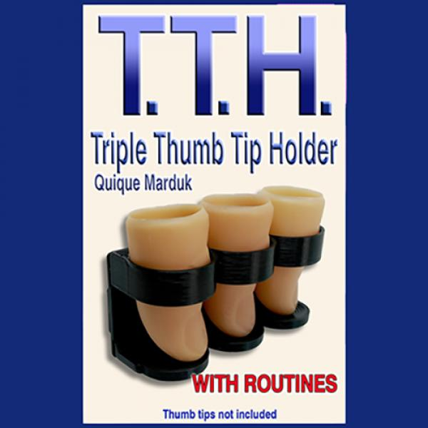 TRIPLE THUMB TIP HOLDER by Quique Marduk