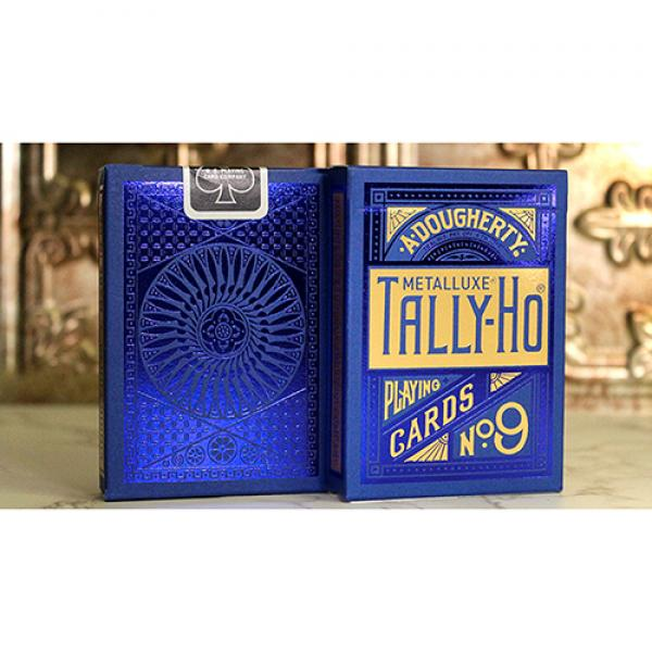 Tally Ho Blue (Circle) MetalLuxe Playing Cards by ...