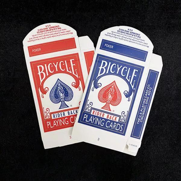 Bicycle Rider back Card Box Red