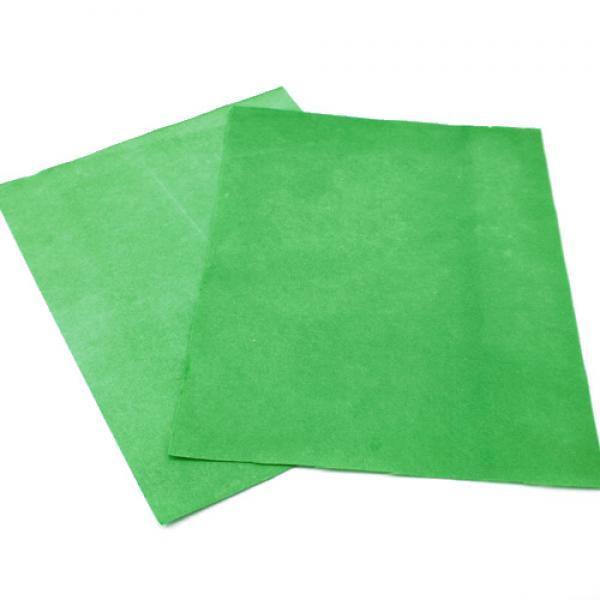 Flash Paper, Green Color, 4 Sheets, 20 cm x 25 cm