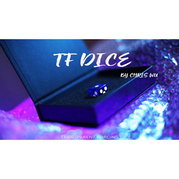 TF DICE (Transparent Forcing Dice) BLUE by Chris W...