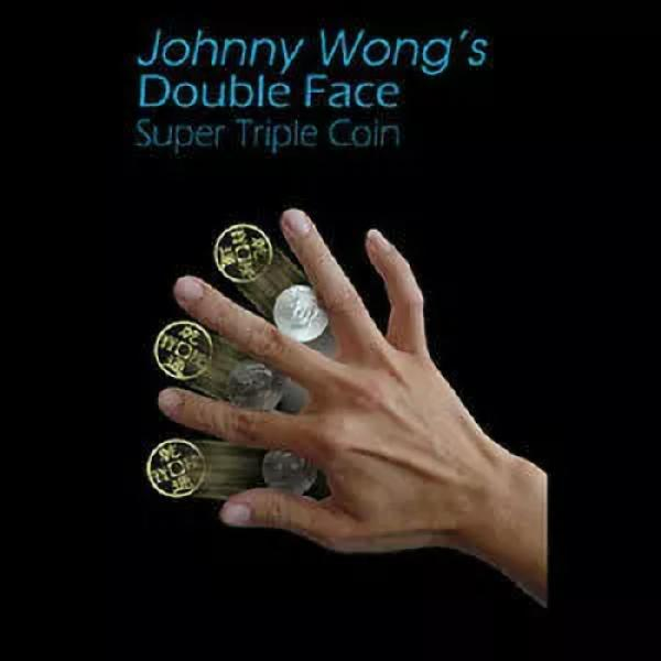 Double Face Super Triple Coin by Johnny Wong - Mor...