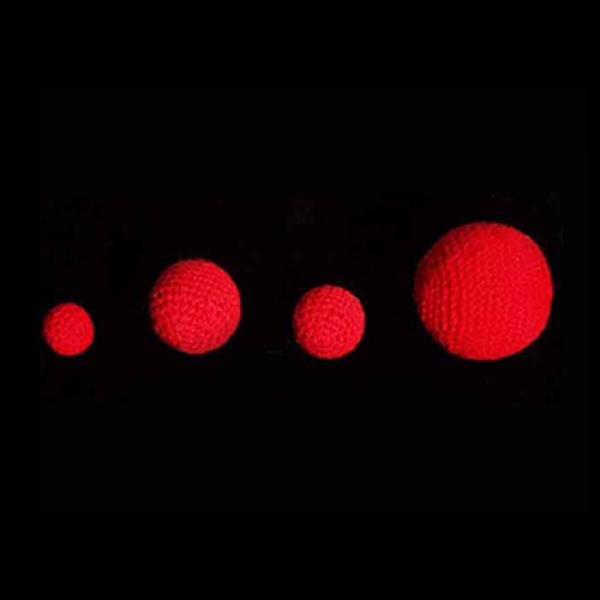 Crochet Balls (Red) by Uday - 4.5 cm